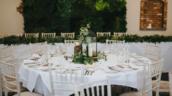 Healing Manor Hotel Barn Wedding Venue near Grimsby Steph and Joe live wall