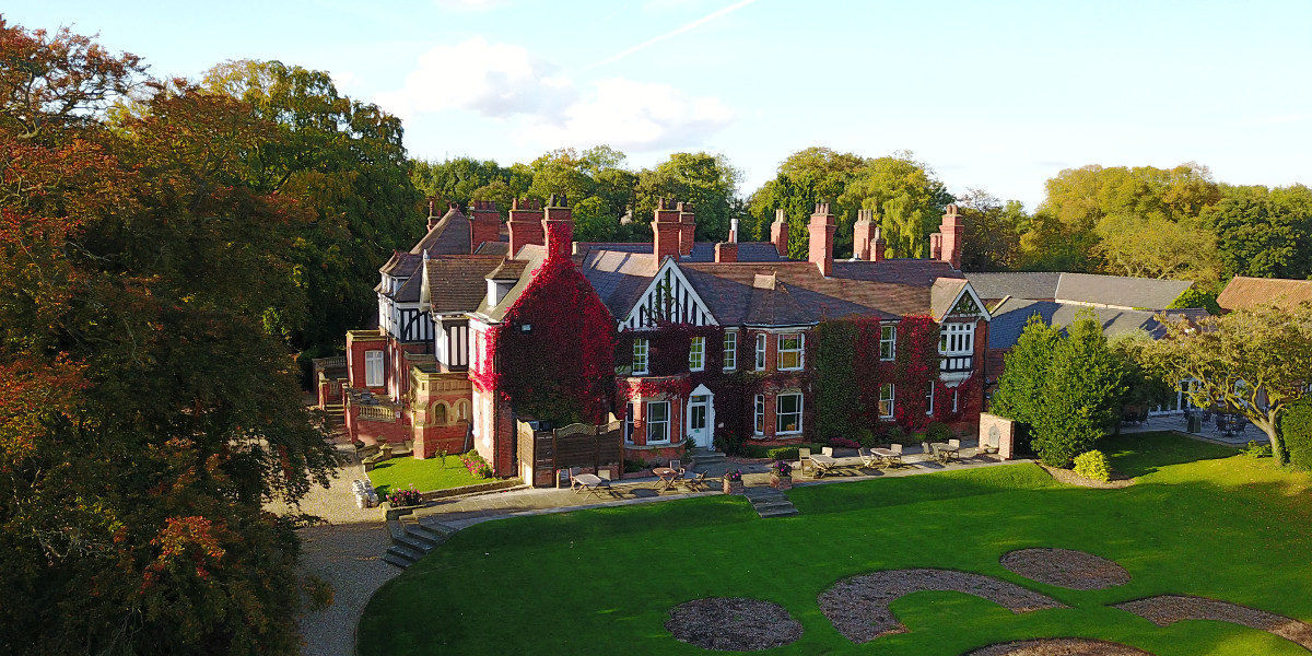 Healing Manor Hotel Grimsby Wedding Venue Drone Photograph