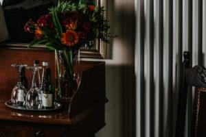 Healing Manor Hotel Luxury Bedroom Wine in Room