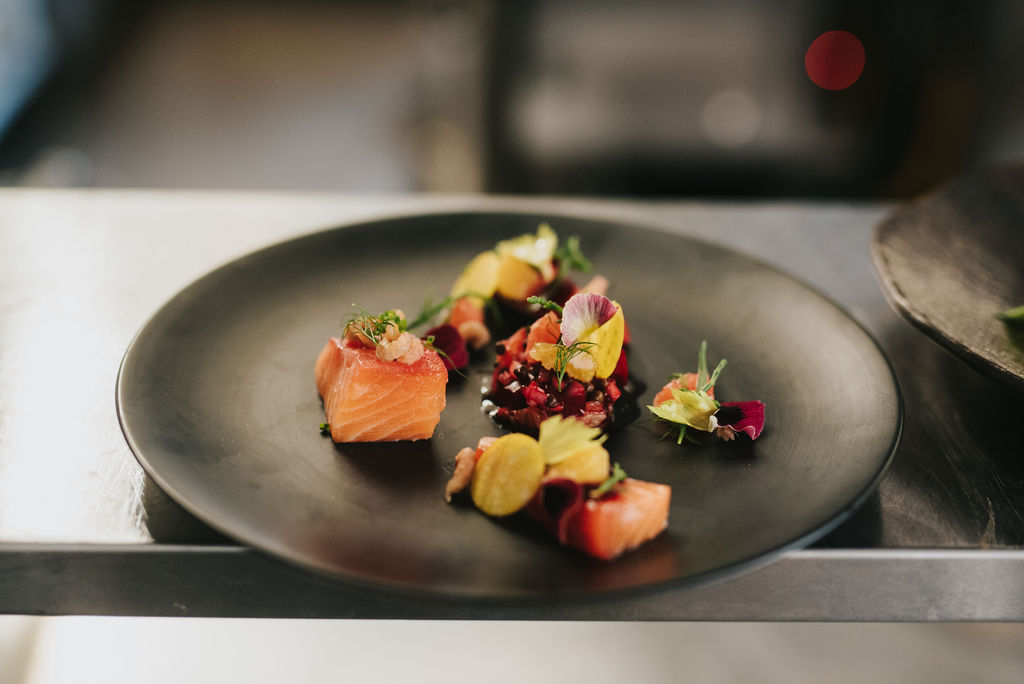 Pig and Whistle Healing Manor Hotel Salmon and Beetroot