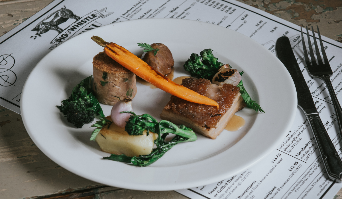 The Pig and Whistle Pub near Grimsby Pork Dish by Steven Bennett The Lincolnshire Chef
