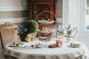 Wimbledon Afternoon Tea served at Healing Manor Hotel near Grimsby Lincolnshire