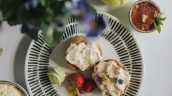 Wimbledon Afternoon Tea served at Healing Manor Hotel near Grimsby Lincolnshire with Silent Pool Gin and Pimms Scone