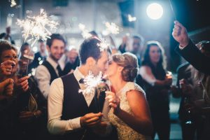 Healing Manor Hotel, Lincolnshire Wedding Venue, Charlotte and Michael's Wedding photographed by Flawless Photography sparklers