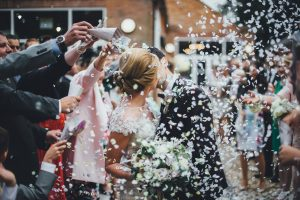 Healing Manor Hotel, Lincolnshire Wedding Venue, Charlotte and Michael's Wedding photographed by Flawless Photography confetti
