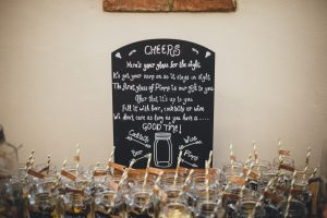 Healing Manor Hotel, Lincolnshire Wedding Venue, Charlotte and Michael's Wedding photographed by Flawless Photography pimms jar