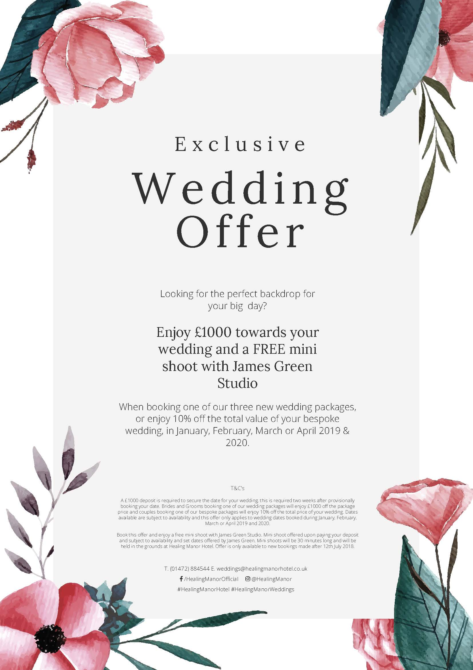 Healing Manor Hotel Winter and Spring Wedding Offer with
