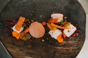 Textures of Rhubarb Pig and Whistle Autumn Menu Launch