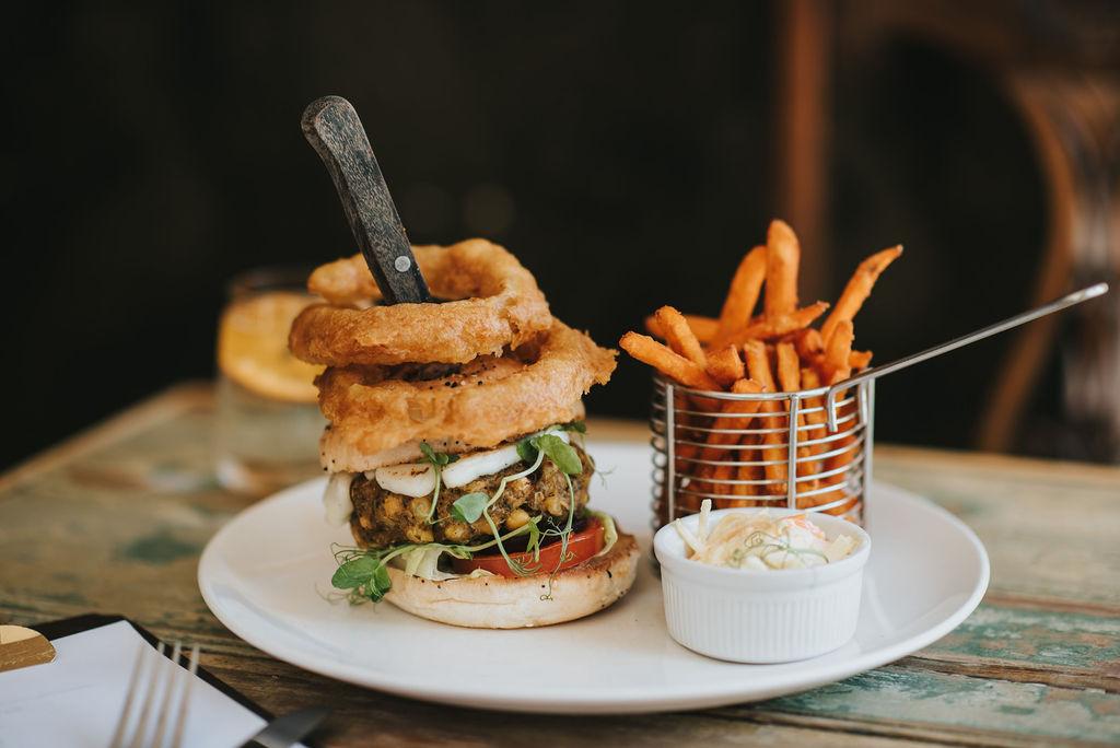 Falaffel Burger lunch time healing manor