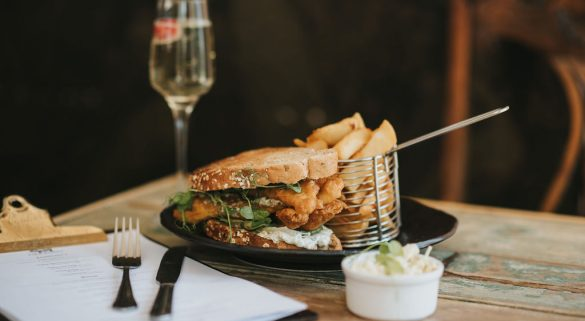 Fish Finger Sandwich at Healing Manor the Pig & Whistle lunch menu