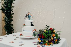 Dog Friendly Wedding Venue, Tasha and Connor's Dog wedding cake
