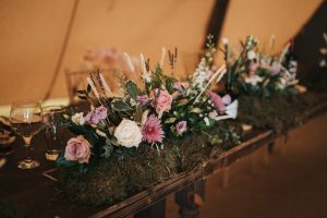Tom and Nicole's Teepee Wedding with Healing Manor Hotel Catering Pie Station and Wedding Breakfast
