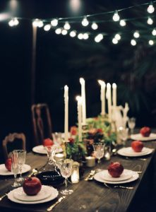 Winter Dinner Party in The Barn