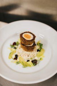 Venison and Black Pudding Scotch Egg Winter Menu