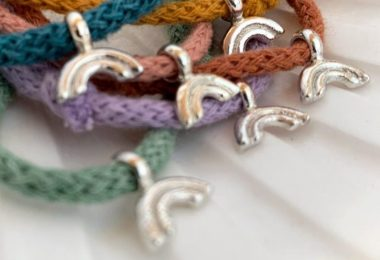 EBB & FLO Rainbow Cotton Cord Bracelets NHS COVID-19 Healing Manor Hotel Campaign