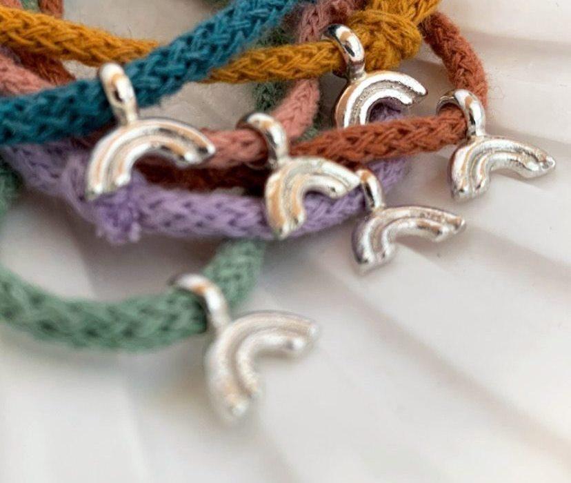 EBB & FLO Rainbow Cotton Cord Bracelets NHS COVID-19 Healing Manor Hotel Campaign