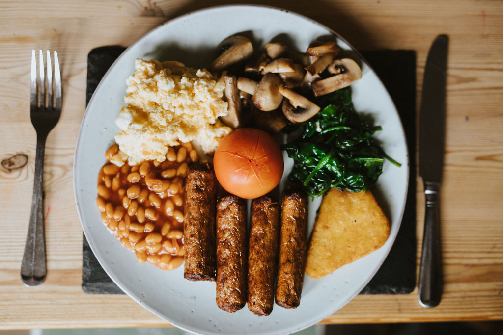 Healing Manor Hotel Take Away Menu - Brunch - Vegetarian Breakfast