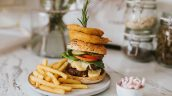 The Lincolnshire Kitchen at Home Grimsby Healing Manor Take Away double cheese burger