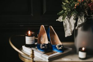 How to Scent Your Wedding by Charlotte Hay, Healing Manor Manolo Blahnik Hangisi Blue hoes