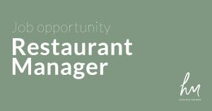 Restaurant Manager Healing Manor Job Opportunity